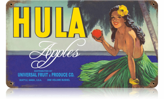 Hula Apples - Fresh Produce Ad