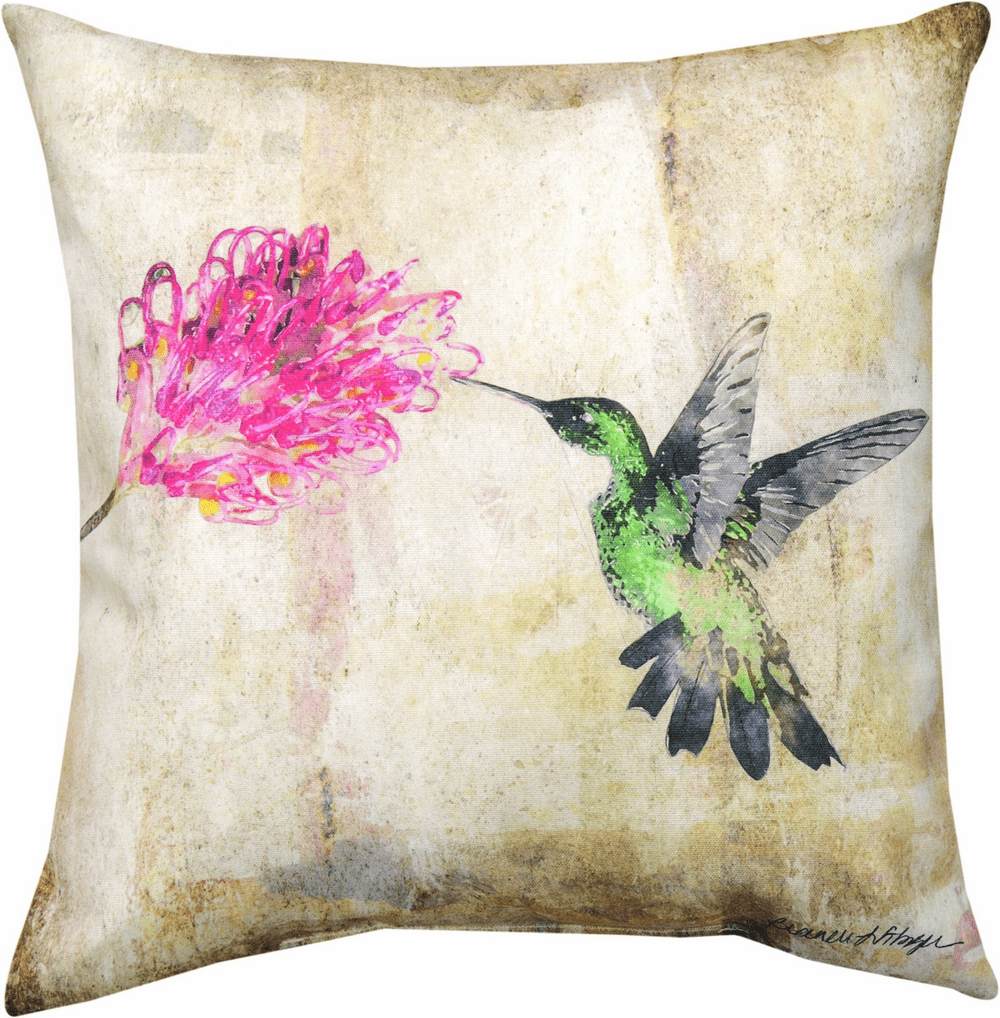 Hummingbird Floral II Climaweave Pillow