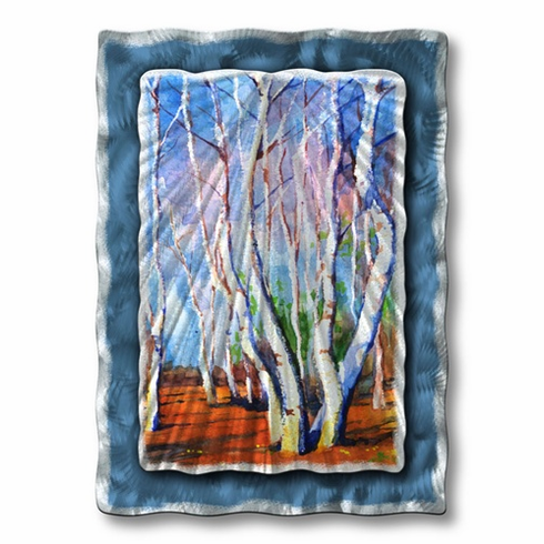 Illuminated Birch Wall Art