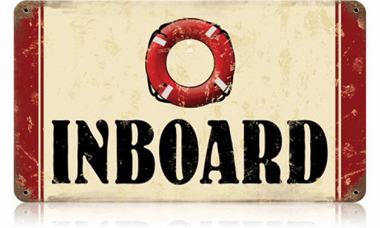 Inboard Boating Sign - Boathouse Sign