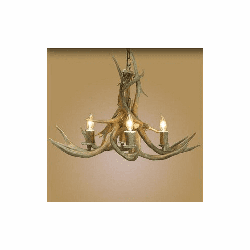 Inverted Mule Deer 4 Light Chandelier