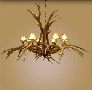 Inverted Spider 8 Light Chandelier