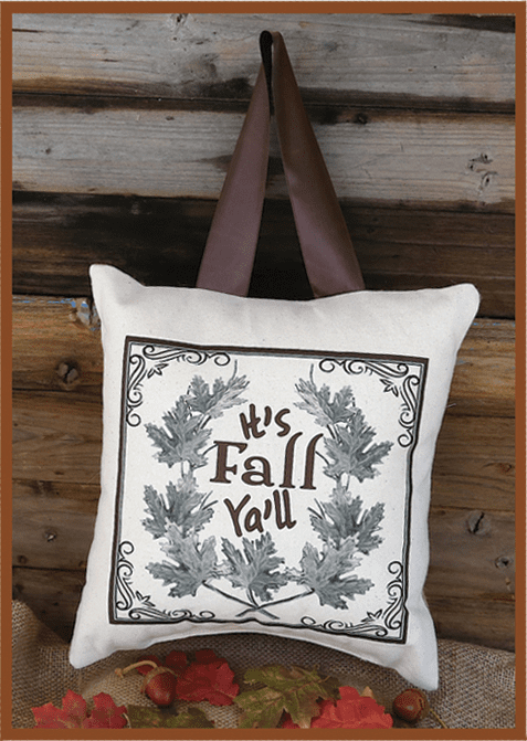 It's Fall Ya'll Thanksgiving Pillow, 10in x 10in