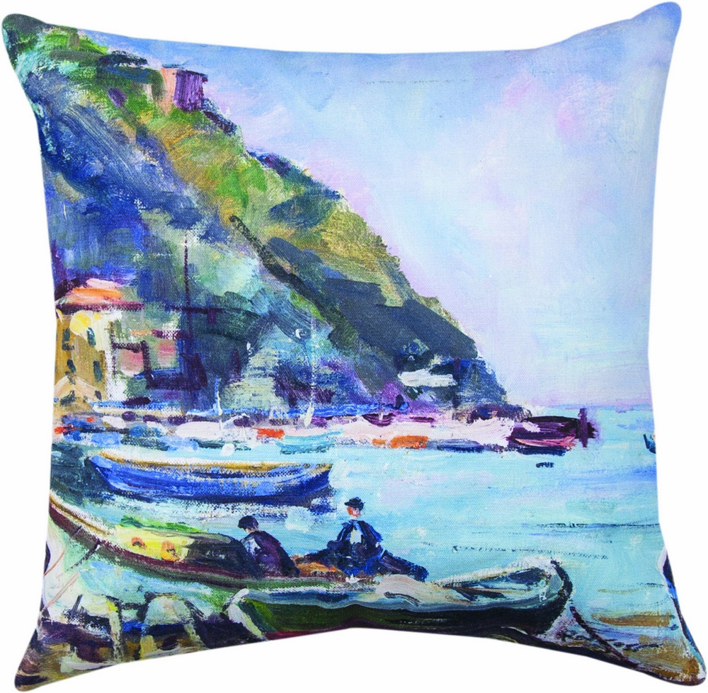 Italian Harbor Climaweave Pillow