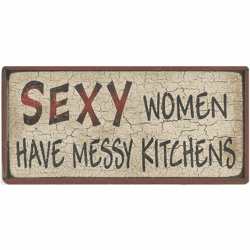 Kitchen Decorating - Sexy Women Have Messy Kitchens