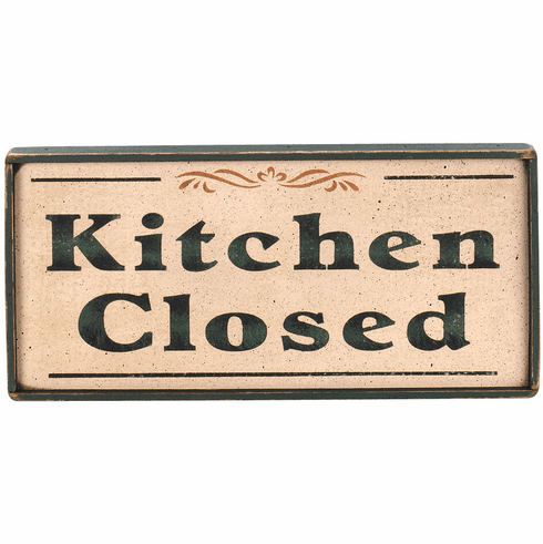 Kitchen Wall Decor -  Kitchen Closed