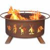 Kokopelli Design Fire Pit - Native American Kokopelli Spirit