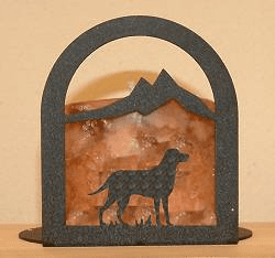 Lab Retriever Arched Candle Holder
