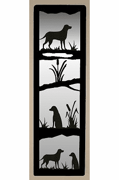 Lab Retriever Large Accent Mirror Wall Art