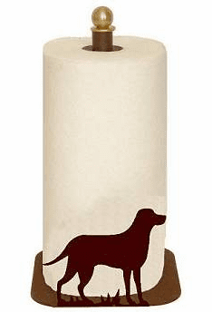 Lab Retriever Paper Towel Holder for Countertop