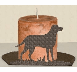 Lab Retriever Silhouette Candle Holder