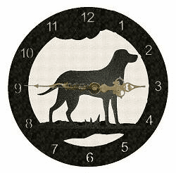 Lab Retriever Smooth Edge Rustic Clock