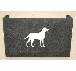 Lab Retriever Wall Mount Magazine Rack