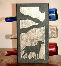 Lab Retriever Wine Bottle Rack