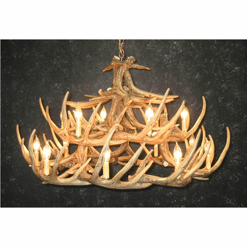 Large antler chandelier 24 replica antlers 15 candelabra lights aloadofball Image collections