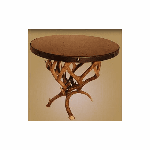 Large Mule Deer Antler End Table