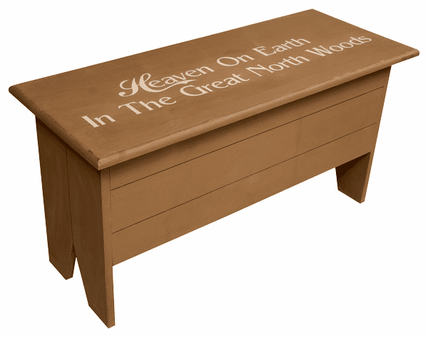 Large Storage Bench with Lettering