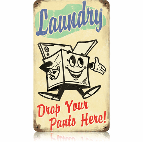 Laundry  Room Sign -  Old Fashion Laundry Sign