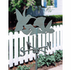 Lawn or Garden Weathervane with Hummingbird Ornament