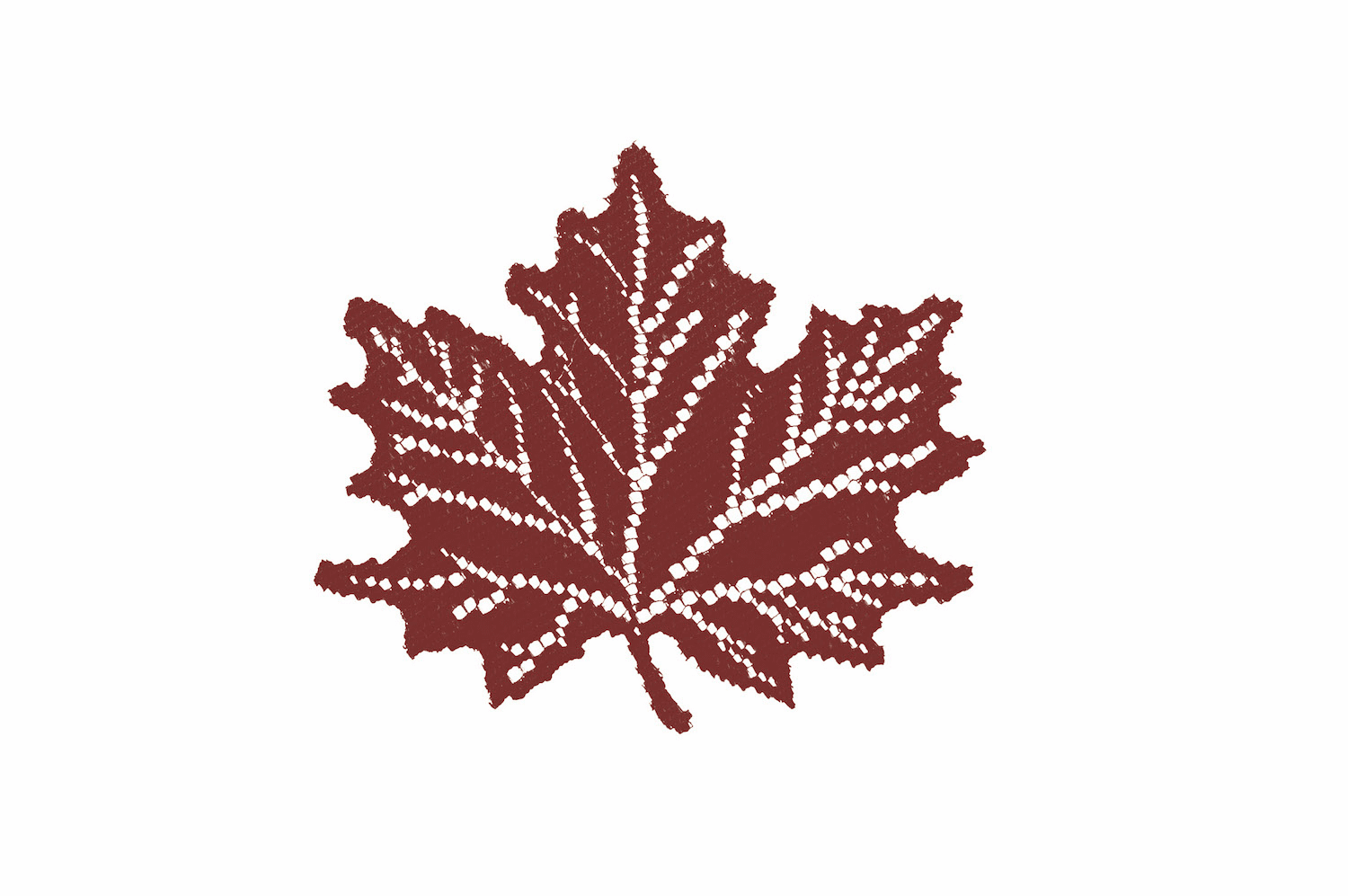 Leaf Maple Doily in Two Colors