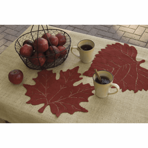 Leaf Maple Placemat in Three Colors