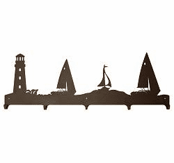 Lighthouse and Sailboat Coat Hook in 4 lengths