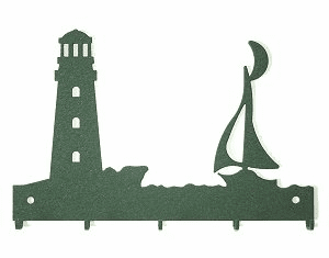 Lighthouse and Sailboat Key and Accessory Holder