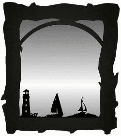 Lighthouse and Sailboat Mirror