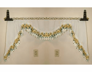 Lighthouse Curtain Rod Holder Pair