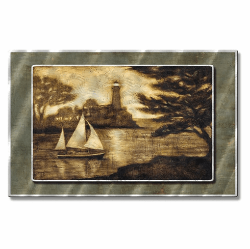 Lighthouse Lake Metal Wall Art