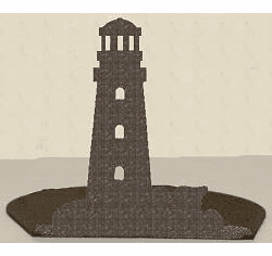 Lighthouse Silhouette Candle Holder