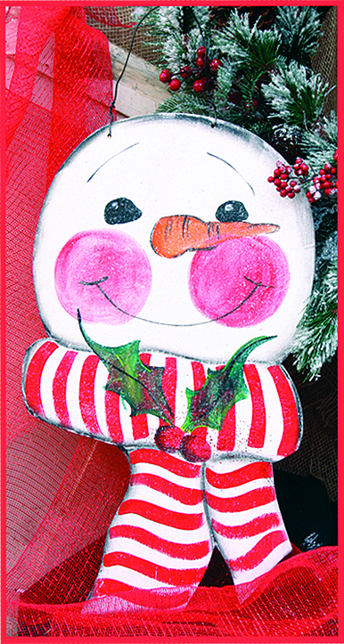 Little Snowman Merry Christmas Wall Hanging, 12in x 24in