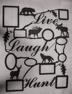 Live Laugh Hunt Collage Picture Frame