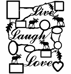 Live Laugh Love, Moose Moftif, Collage Picture Frame