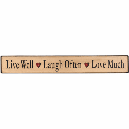 Live Well, Laugh Often, Love Much (Large)