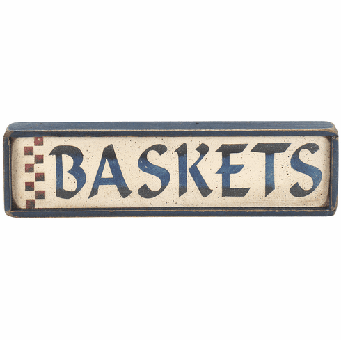Living Room Decor - Mini Baskets Sign