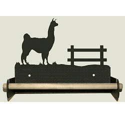 Llama Paper Towel Holder With Wood Bar