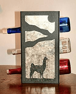 Llama Wine Bottle Rack