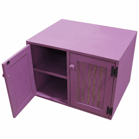 Locker Bench with Cubbies, 28 inch wide