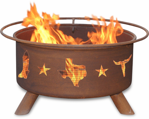Lone Star State Design Fire Pit - Texan Pride