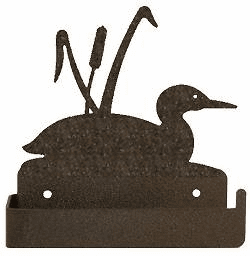 Loon and Cattails One Piece Toilet Paper Holder