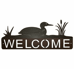 Loon Horizontal Welcome Sign