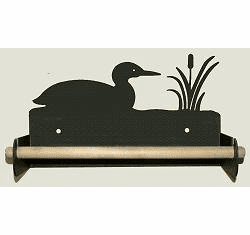 Loon Paper Towel Holder With Wood Bar