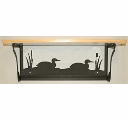 Loon Rustic Towel Bar with Shelf