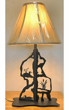Loon Scenery Style Table Lamp