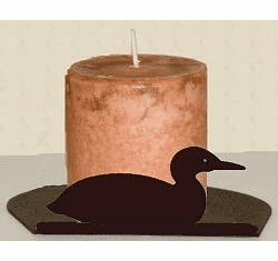 Loon Silhouette Candle Holder