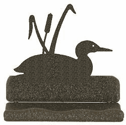 Loon with Cattails Business Card Holder