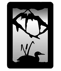 Loon with Cattails Small Accent Mirror Wall Art
