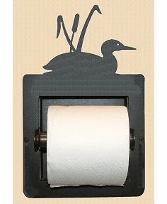 Loon with Cattails Toilet Paper Holder (Recessed)