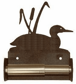 Loon with Cattails Toilet Paper Holder (Spring Bar)